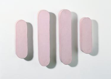 Richard Tuttle, Pink Oval Landscape, 1964, Donation Yvon Lambert à l'Etat français / Centre national des arts plastiques / Dépôt à la Collection Lambert, © Richard Tuttle
