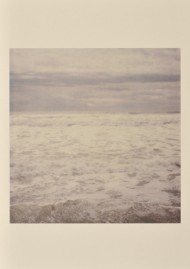 "Cy Twombly, ""Miramare"", Gaeta, 2005, dry print on cardboard © Cy Twombly, photograph by Richard Cook."
