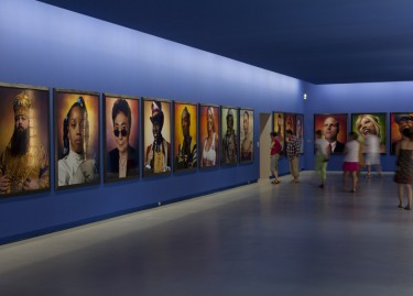 Exhibition vue. The Masterpieces of the Yvon Lambert donation. Works by Andres Serrano. Photograph Pascal Martinez