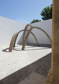 The new courtyard, work by Vincent Ganivet, photo Franck Couvreur