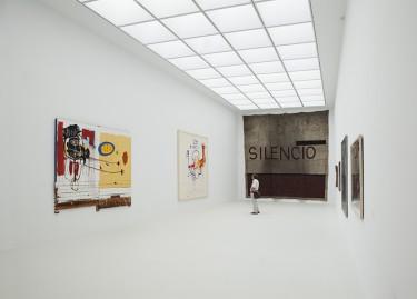 Vue de la Salle de grande hauteur, oeuvres de Jean-Michel Basquiat et Julian Schnabel, © Laurent P. Berger, Berger&Berger 2015