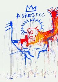 """Jean-Michel Basquiat, """"Asbestos"""", 1981-1982, © ADAGP"""