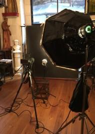 Photographie du studio d'Andres Serrano à New York prise par l'artiste lui-même pour les Fripons de la Collection Lambert. © Andres Serrano