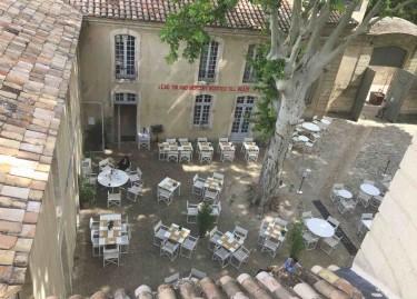 Vue du restaurant Le Violette