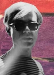 Portrait d'Andy Warhol, détail de la couverture de l'édition italienne du roman Deux jeunes artistes au chômage