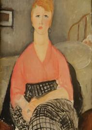 Amedeo Modigliani 1884 - 1920 La blouse rose, 1919 Huile sur toile, 98 x 64 cm Avignon, Musée Angladon - Collection Jacques Doucet Cliché Romain Victoria