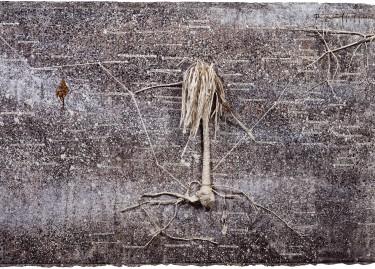 Anselm Kiefer, La vie secrète des plantes, 2001-2002, branchage, gesso, fil de fer, plomb, toile, 380 x 1500 cm, 6 éléments de 190 x 280cm 4 éléments de 190 x 330cm © Anselm Kiefer, (c) Centre Pompidou, MNAM-CCI/Philippe Migeat/Dist. RMN-GP