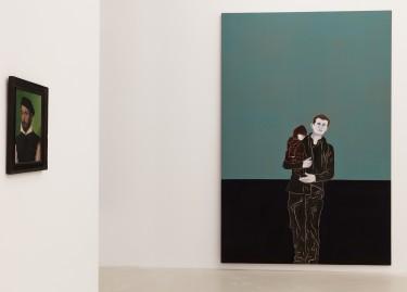 Vue d'exposition, dialogue entre Djamel Tatah et Corneille de Lyon, Photo Pascal Martinez