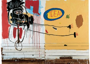 Jean-Michel Basquiat, She Installs Confidence and Picks his Brain Like a Salad, 1988, technique mixte sur bois / Donation Yvon Lambert à l'État français / Centre national des arts plastiques / Dépôt à la Collection Lambert, Avignon / © The Estate of Jean-Michel Basquiat / Adagp, Paris 2018