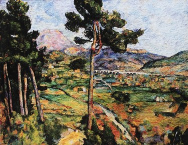 Montagne Sainte Victoire, seen from Montbriand, after Cézanne